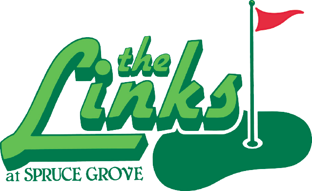 the links at spruce grove golf course logo