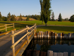 small bridge at The Links at Spruce Grove