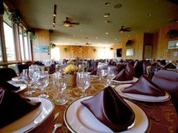 table settings for group booking, meeting, banquet at The Links at Spruce Grove