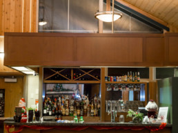 fully stocked bar for group bookings, meetings, and weddings at The Links at Spruce Grove