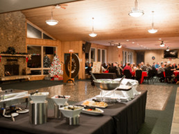 dinner buffet and dessert bar at The Links at Spruce Grove
