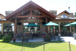The Grill entrance and patio at The Links at Spruce Grove